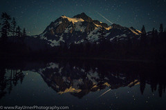 Mt Shuksan Meteor Shower (Ray Urner Photography) Tags: mtshuksan picturelake washington reflection meteorshower shootingstar mountain astrophotography lake water pacific northwest long exposure snoqualmie national forest perseid meteor shower wide angle