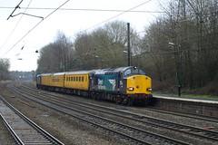 Direct Rail Services Class 37s 37069 and 37667 cruise through Longbridge (Oz_97) Tags: longbridge directrailservices 37667 37069 networkrail