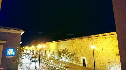 Oaxaca street at night