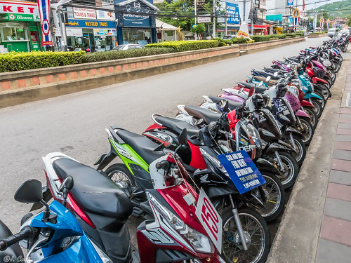 Line of Motocycles