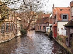 Bruges Canal 248 (saxonfenken) Tags: 248bruges 248 anal houses old brickbuilt city bruges belgium tree roof thechallengefactory pregamewinner gamesweep perpetual challengeyouwinner