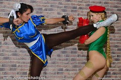 chun_li_vs_cammy_cosplay__street_fighter__by_morganita86-d8ek64j (poorminerlosercammy) Tags: comic princess cosplay wrestling manga laracroft otaku marvel submission cammy harleyquinn sailermoon streetfighter chunli capcom samus superwoman wondergirl nicelegs ryona cammyfan