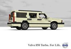 Volvo 850 Turbo Estate (1996) (lego911) Tags: auto car wagon volvo model estate lego stuck sweden render 1996 swedish turbo t5 challenge 92 1990s 90s cad lugnuts 850 boxy povray moc ldd miniland lego911 stuckinthe90s