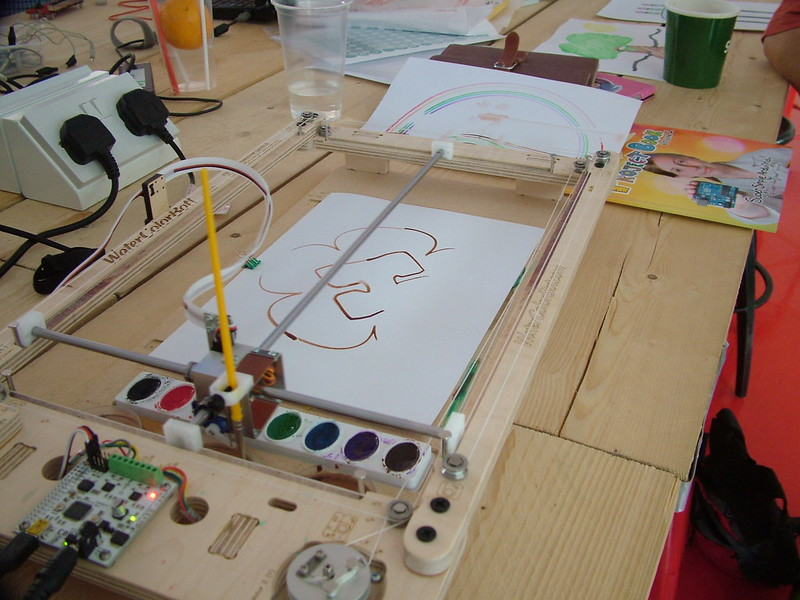 WaterColorBot paints YHS