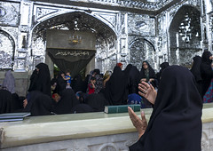 Pilgrims At The Shrine Of Fatima Al-masumeh, Qom Province, Qom, Iran (Eric Lafforgue) Tags: people building glass horizontal architecture religious outdoors photography mirror women shrine asia iran islam faith religion crowd culture mirrors persia mosque architectural womenonly iranian spirituality tradition orient groupofpeople pilgrimage adultsonly pilgrim islamic pilgrims placeofworship qom ghom famousplace  mirrorwork  5people colourimage qum  iro  masumeh  qomprovince iran150856
