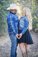 Our Engagement Pics (Pretty Witty Designs) Tags: sunset love bike engagement nikon cowboy married boots deluxe country harley biker cowgirl bagger