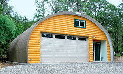 Custom Wooden Front Garage