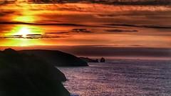 Sunset (Ivan_Fle) Tags: sunset summer espaa clouds landscape atardecer mar spain cloudy asturias paisaje nubes nublado llanes xperia ligeramentenublado xperiaz3compact