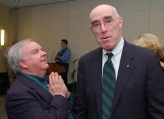 Joking with friend, Bill McLAughlin