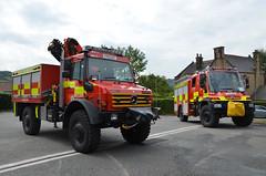 Matlock Fire Station Unimog line up (Emergency_Vehicles) Tags: rescue up station animal fire derbyshire 4wd line pump matlock unimog ogw ogt yy63 yy63ogt yy63ogw