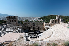 Odeon of Herodes Atticus (161 AD) (Erika & Rdiger) Tags: europe theater athens greece ancientgreece classicalantiquity odeonofherodesatticus acropolisofathens
