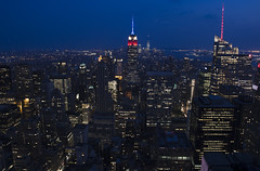 NH0A6290s (michael.soukup) Tags: newyork newyorkcity skyline manhattan empirestate worldtradecenter cityscape sunset dusk skyscraper citylights architecture midtown rockefeller 30rock tower bluehour night nyc building outdoor city