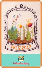 Em 2017, plante um jardim (Carol Grilo • FofysFactory®) Tags: 2017 anonovo happynewyear carolgrilo fofysfactory handmade craft embroidery jardim garden audreyhepburn newyear bordado