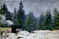 the new year (silviaON) Tags: winter landscape germany harz harznarrowgaugerailways textured distressedtextures