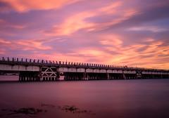Amateur Hour (ajecaldwell11) Tags: ahuririestuary sunset water foehn westshore light longexposure tide newzealand napier bridge rail ahuriri railway clouds hawkesbay sky dusk