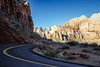 curving down (almostsummersky) Tags: pinecreekcanyon utah winter canyon nationalpark orange rocks travel rockformation red switchback road bend highway curve thestreakedwall zion zioncanyon walls zionnationalpark winding zion–mountcarmelhighway mountain hurricane unitedstates us