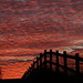 The Fence (Silversven) Tags: uphill weston sky red sunset
