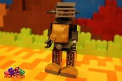 The Droid Family: Footy (EVWEB) Tags: lego creations ideas robot mecha droid wheels gears mixels moc klinkers family