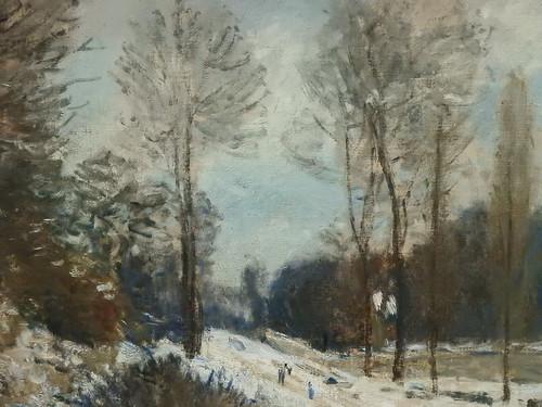 SISLEY Alfred,1877-78 - Côte du Cœur-Volant à Marly, Route de Louveciennes, Neige (Orsay) - Detail 04