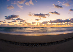 (CeativeCapturez) Tags: sunrise beach ocean cluds sky florida fortlauderdale longexposure colors photography landscape landscapephotography a6000
