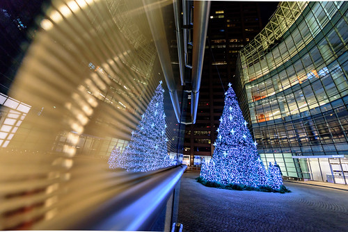 Christmas at New York's Bloomberg Tower