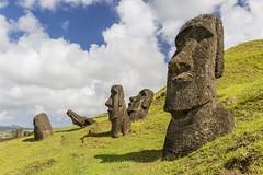 Rano Raraku (Traveloscopy) Tags: chile easterisland isladepascua island pacific pacificocean polynesiantriangle ranoraraku rapanui carve carving civilization culture head moai mystery quarry remote restored rockquarry sculpting sculpture chl