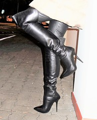 Going out for dinner and for a casino visit (Rosina's Heels) Tags: thigh high overknee stiletto heel leather boots