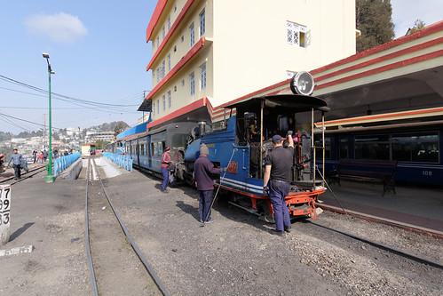 Toy train at Darjeeling Station