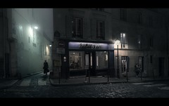 Paris n°107 - On A Foggy Night (Nico Geerlings) Tags: ngimages nicogeerlings nicogeerlingsphotography paris parijs france cinematic cinema cinematography montmartre ruelepic fujifilmxt2 fujinon xf14mm fog mist atmosphere mood moody
