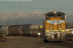 Morning light on new helpers, Beaumont, CA (Travis Berryman) Tags: unionpacific beaumonthill uprr upyumasub desertrailroading