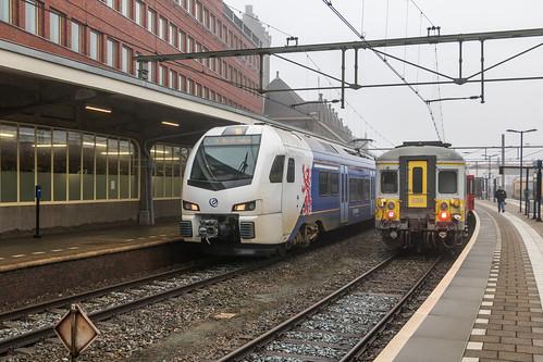 Arriva FLIRT 463 en NMBS Klassiekjes 638 + 631, Maastricht