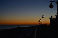 Lungomare dopo un tramonto invernale (francesca_siccardi new profile) Tags: inverno winter sky tramonto nikon3200 nikon mare sea sunset dawn italy italia veneto seaside lungomare caorle