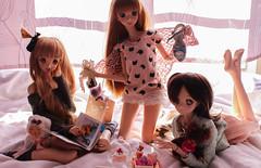 Pyjama Party yeahh ~ (Targuerys) Tags: dollfie dream smartdoll mirai kotori sheryl nome alna volks
