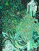 Smaragd 3, 2017 (A. Arendt) Tags: smararagd arendt angelika angelikaarendt drawing zeichnung green graphic black art aquarell abstract berlin coulored detailed fineliner ink jugendstil kunst lines linie lineart modern nature ornament pattern psychedelisch aquarelle tusche zeichnungdrawing