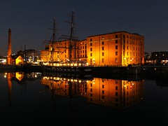 The Maritime Museum (lady.bracknell) Tags: liverpool albertdock mersey liverpoolmaritimemuseum tallship reflection reflections twilight pumphouse