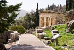 Athenian Treasury, Delphi, Greece (Johnny Peacock) Tags: ancient atheniantreasury delphi europe greece hdr johnnypeacock monument photography sacredway seetheworld travel traverseearth