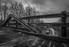 Under the Bridge (Brandon Townley) Tags: trains railroad csx bridge bw blackandwhite cloudy co northernsub