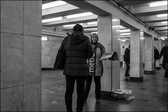 DRD161006_0148 (dmitry_ryzhkov) Tags: metro subway worker underground crosswalk workers newspaper newspapers woman women lady sony alpha black blackandwhite bw monochrome white bnw blacknwhite low lowlight night nightphotography nightshot nights lowlightshot two art city europe russia moscow documentary journalism street streets urban candid life streetlife citylife outdoor outdoors streetscene close scene streetshot image streetphotography candidphotography streetphoto candidphotos streetphotos moment light shadow people citizen resident inhabitant person portrait streetportrait candidportrait unposed public face faces eyes look looks
