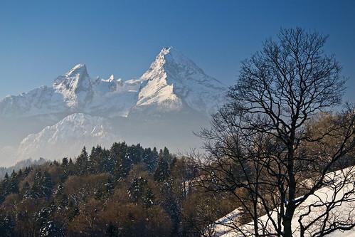 A winter view to the Watzmann