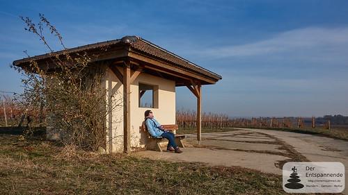 Ausruhen beim Weinbergshäuschen bei Mommenheim
