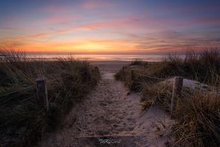 La plage de Fort-Bloqué au couchant