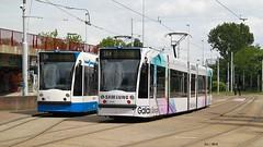 GVB - Siemens Combino (13G/C1), 2095 (Samsung Galaxy S6 edge), tram 14, Insulindeweg (Amsterdam) (FLJ   Public Transport and Aviation Photography) Tags: white holland netherlands amsterdam publictransportation reclame 14 nederland thenetherlands siemens samsung tram line east advertisement galaxy pearl publictransport 13g trams c1 terminus gvb ov s6 openbaarvervoer lijn 2095 combino indischebuurt flevopark flevoparkbad insulindeweg tramlijn gemeentevervoerbedrijf strasenbahn combinoadvanced