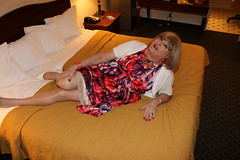 new113435-IMG_8886t (Misscherieamor) Tags: tv sweater feminine cd motel tgirl transgender mature sissy tranny transvestite crossdress ts gurl tg travestis prettydress travesti travestie m2f onbed xdresser tgurl slipshowing
