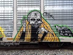 (UTap0ut) Tags: california art cali train bench graffiti pain paint rail socal cal rails graff freight ctk natas utapout