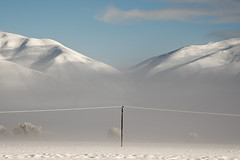 Power to the people (Ian@NZFlickr) Tags: mist snow mountains frost power country canterbury line mackenzie nz
