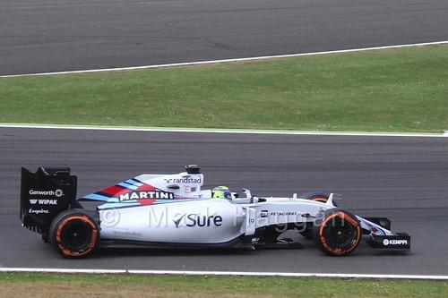 Felipe Massa in Free Practice 3 at the 2015 British Grand Prix