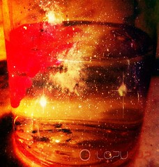 Galaxy in the Glass (lazygyzinc) Tags: water glass galaxy