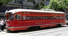 San Francisco Vintage Streetcars (Stabbur's Master) Tags: sanfrancisco trolley marketstreet streetcar marketstreetrailway fline pcc