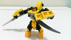 Boxer high on Peaches (soriansj) Tags: lego mecha mech moc microscale mechaton mfz mf0 mobileframezero