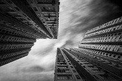 Parallelogram ([~Bryan~]) Tags: city longexposure sky building architecture hongkong publichousing housingestate parallelogram ndfilter quadrilateral cloudmovement daytimelongexposure